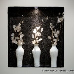 Décoration florale du cabinet du Dr Ohana-Chpindel